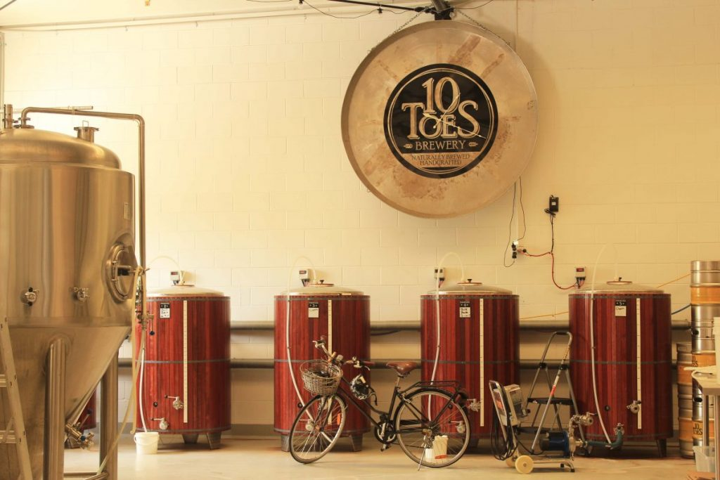 Boutique Breweries: The beautiful barrels at 10 Toes Brewery