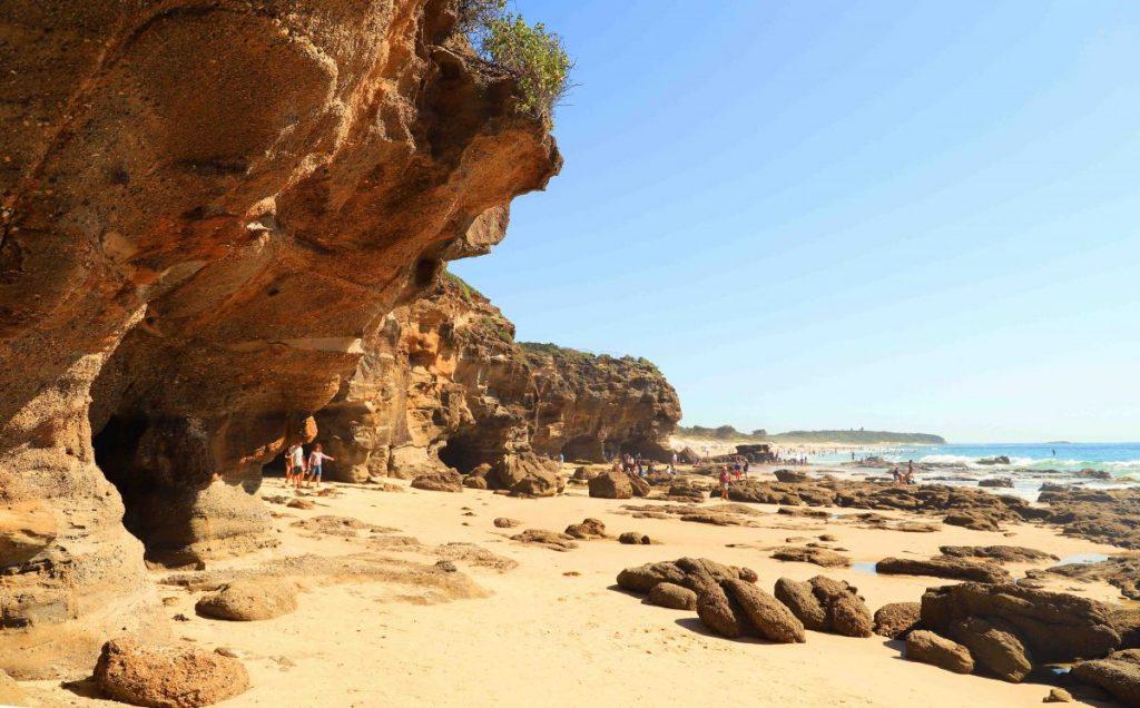 Exploring Caves Beach, near Lake Macquarie, NSW.