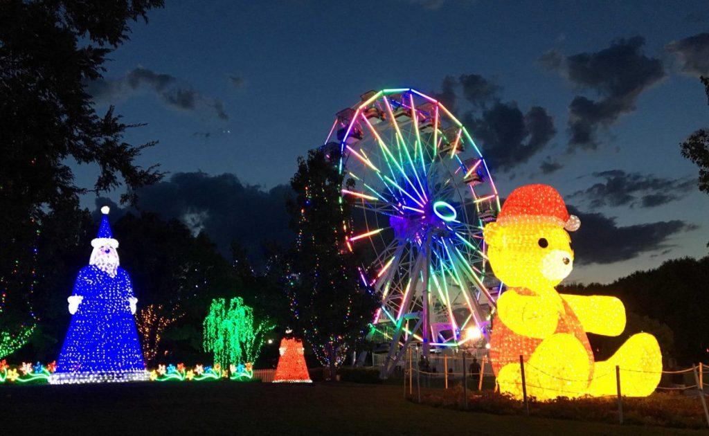 Christmas lights at Hunter Valley Gardens