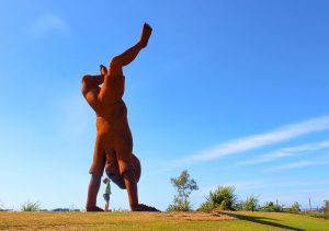 Discovering one of the BIG things on the Sunshine Coast - the Child's Play statue at Birtinya