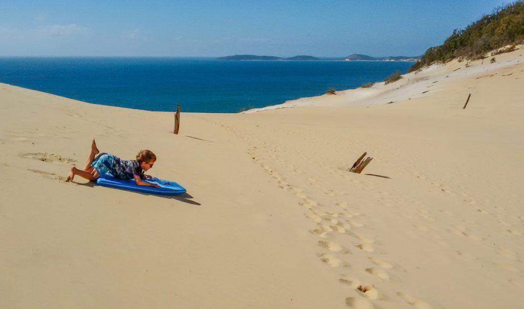Sandboarding at Carlo Sandblow