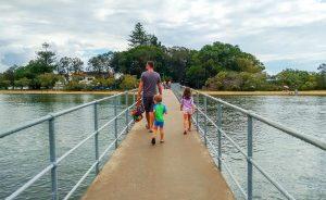 The footbridge to Chambers Island