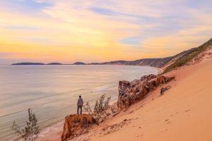Sunrise at Carlo Sand Blow, Rainbow Beach.
