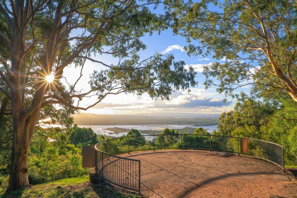 The view from Noosa's Laguna Lookout.