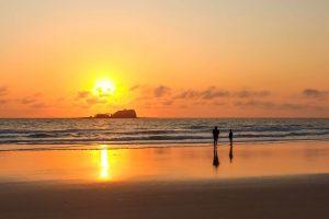 Sunrise over Old Woman Island as seen from Mudjimba Beach.