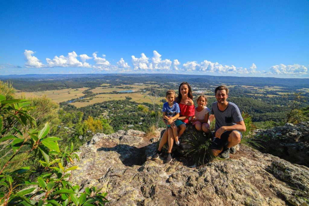 Mt Ninderry is one of the Sunshine Coast's easier hikes. This is the view from the top looking west over Yandina and the Blackall Range.