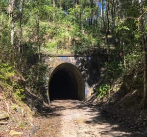 North entrance to the Dularcha Railway Tunnel