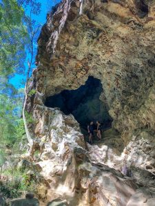 A cave on Mount Ngungun.with kids