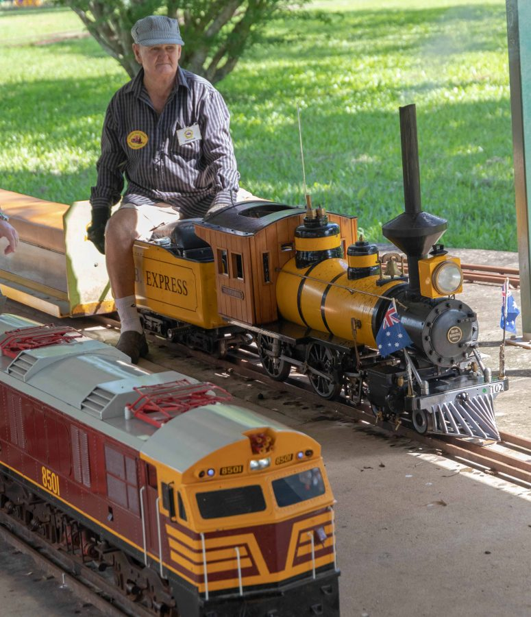 A member of the Sunshine Coast Railway Modellers Society