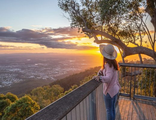 Sunset at Mount Archer